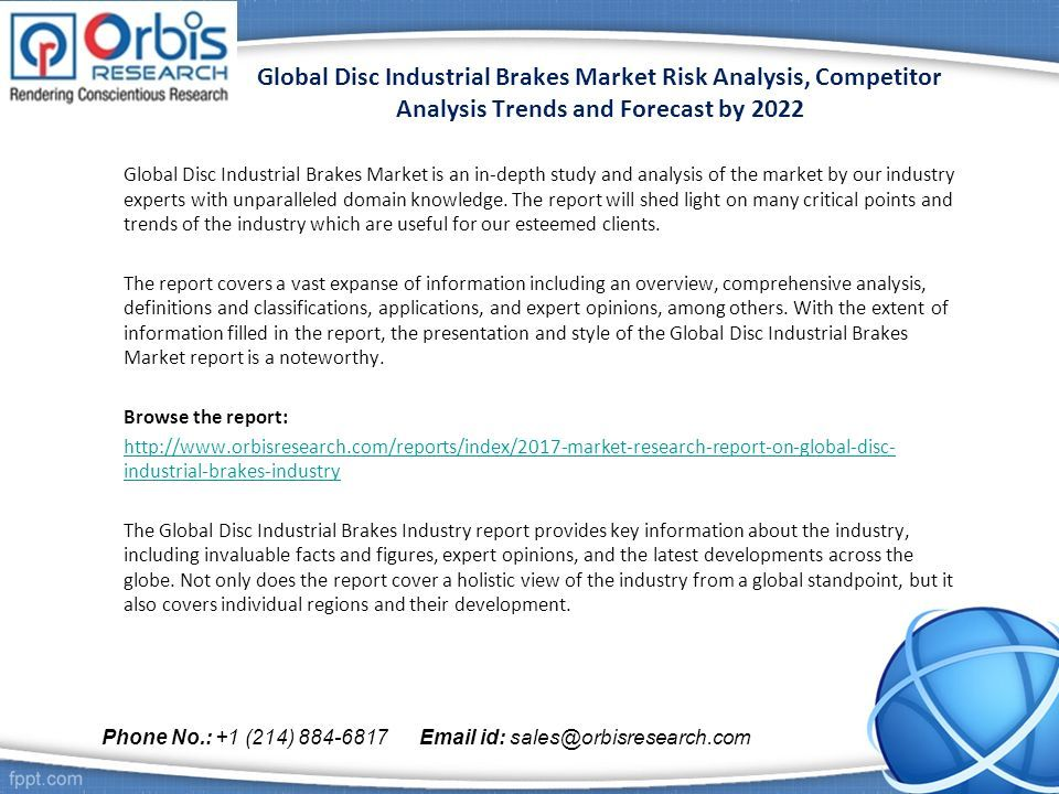 Global Disc Industrial Brakes Market Risk Analysis Competitor