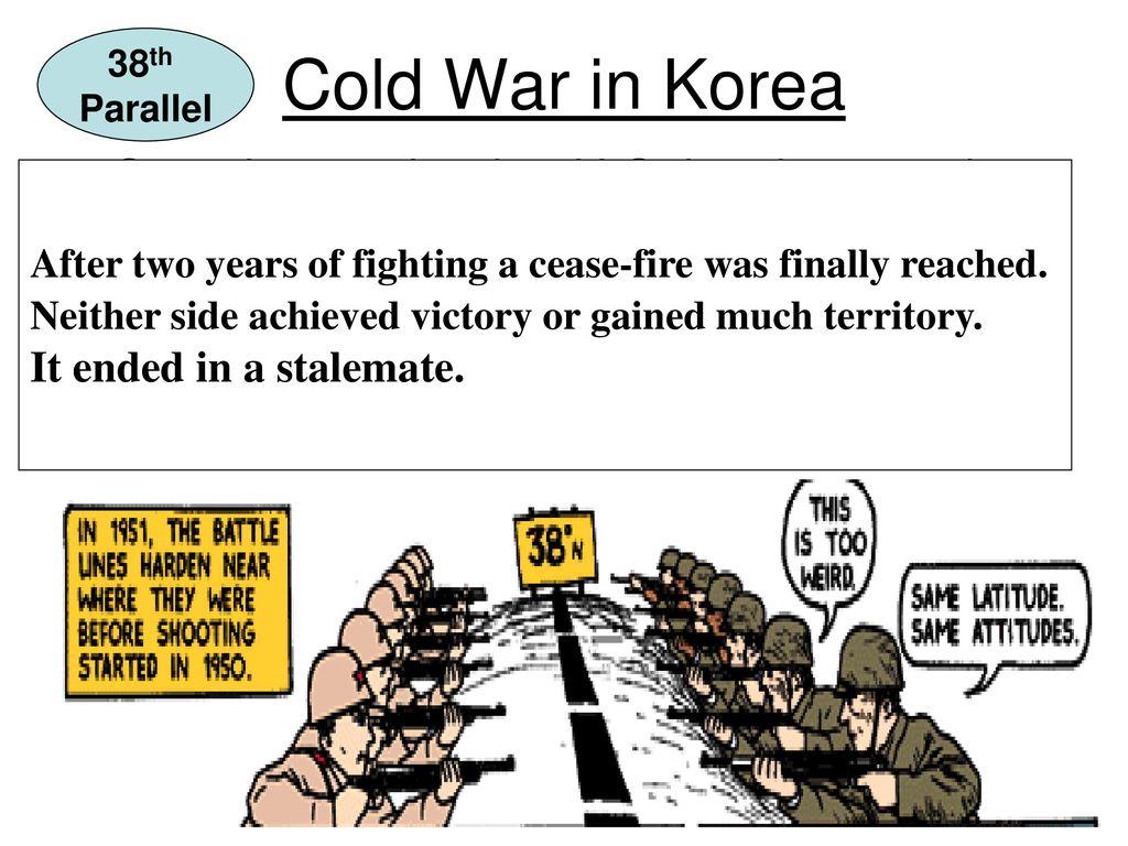 38th Parallel Political Cartoon