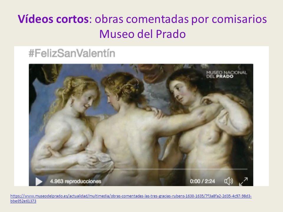 Vídeos cortos: obras comentadas por comisarios Museo del Prado https://www.museodelprado.es/actualidad/multimedia/obras-comentadas-las-tres-gracias-rubens-1630-1635/7f3a8fa2-2d35-4c97-98d3- bbe052e61373