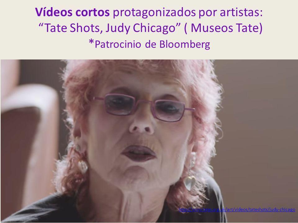 Vídeos cortos protagonizados por artistas: Tate Shots, Judy Chicago ( Museos Tate) * Patrocinio de Bloomberg http://www.tate.org.uk/art/videos/tateshots/judy-chicago