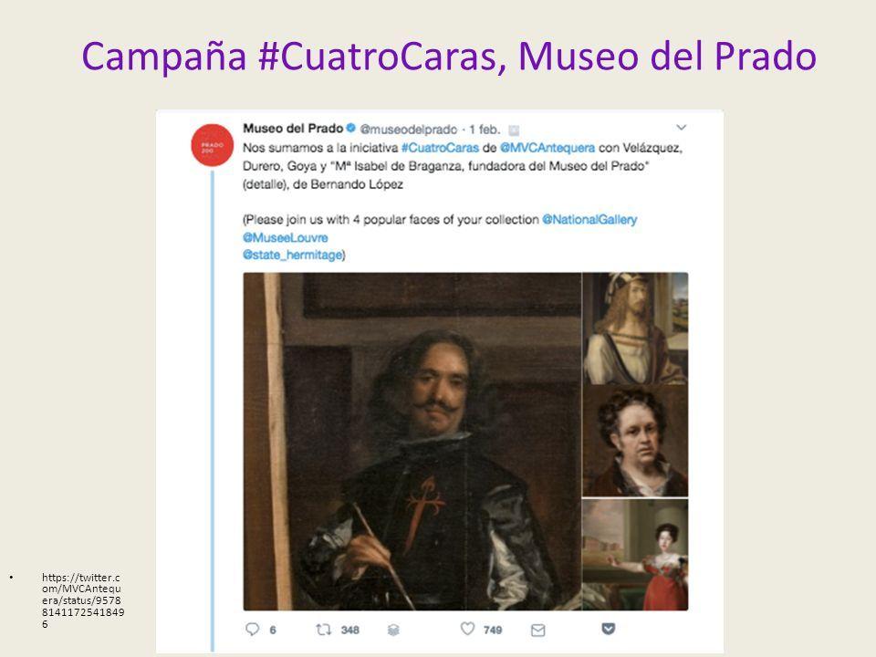 Campaña #CuatroCaras, Museo del Prado https://twitter.c om/MVCAntequ era/status/9578 8141172541849 6