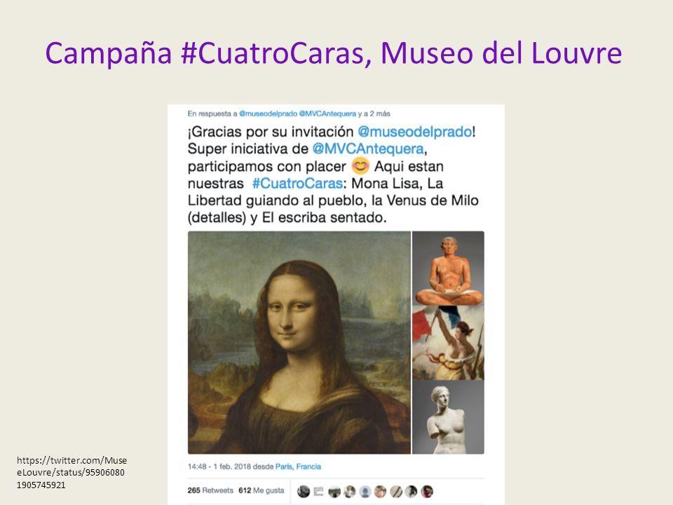 Campaña #CuatroCaras, Museo del Louvre https://twitter.com/Muse eLouvre/status/95906080 1905745921