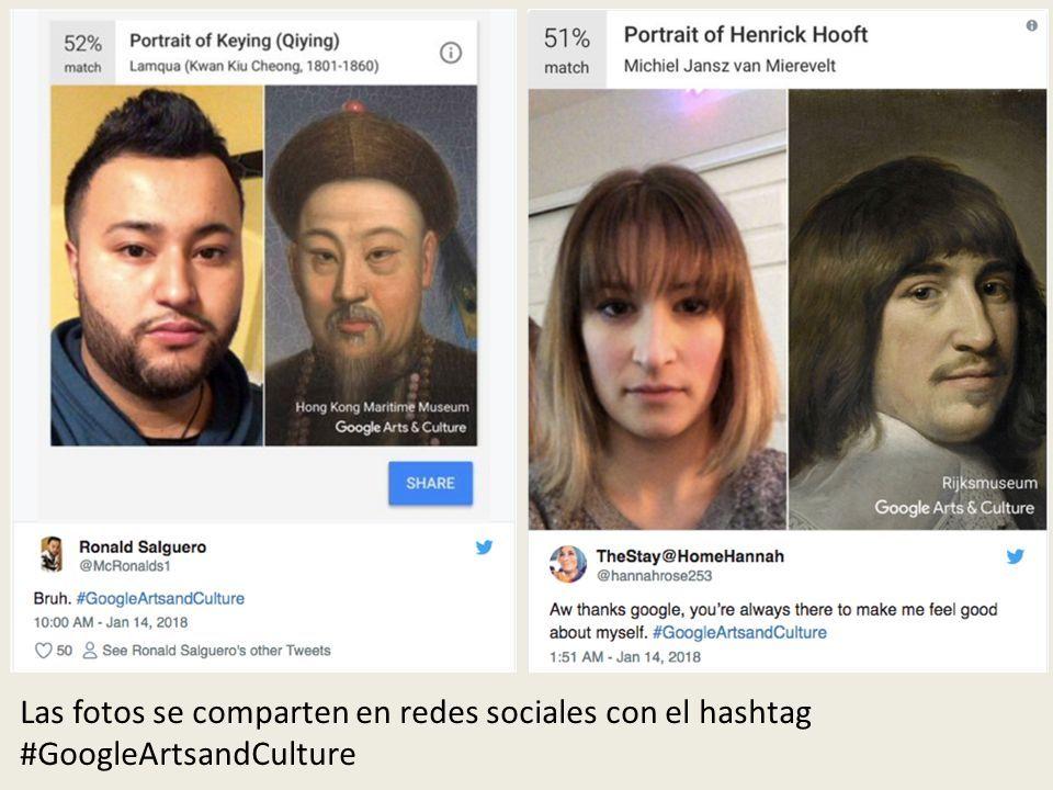Las fotos se comparten en redes sociales con el hashtag #GoogleArtsandCulture