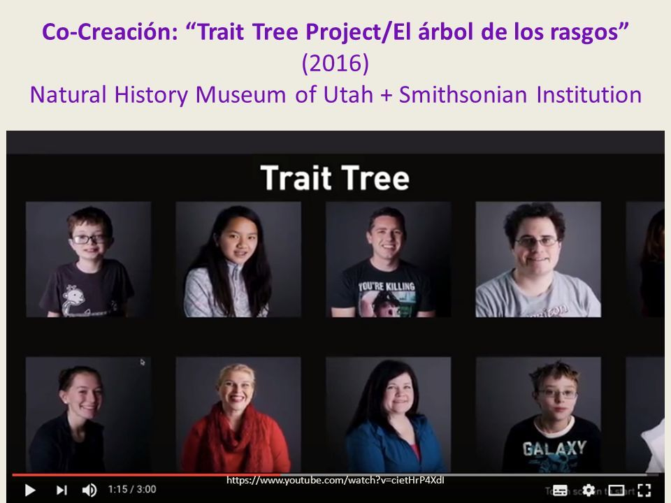 Co-Creación: Trait Tree Project/El árbol de los rasgos (2016) Natural History Museum of Utah + Smithsonian Institution   v=cietHrP4XdI