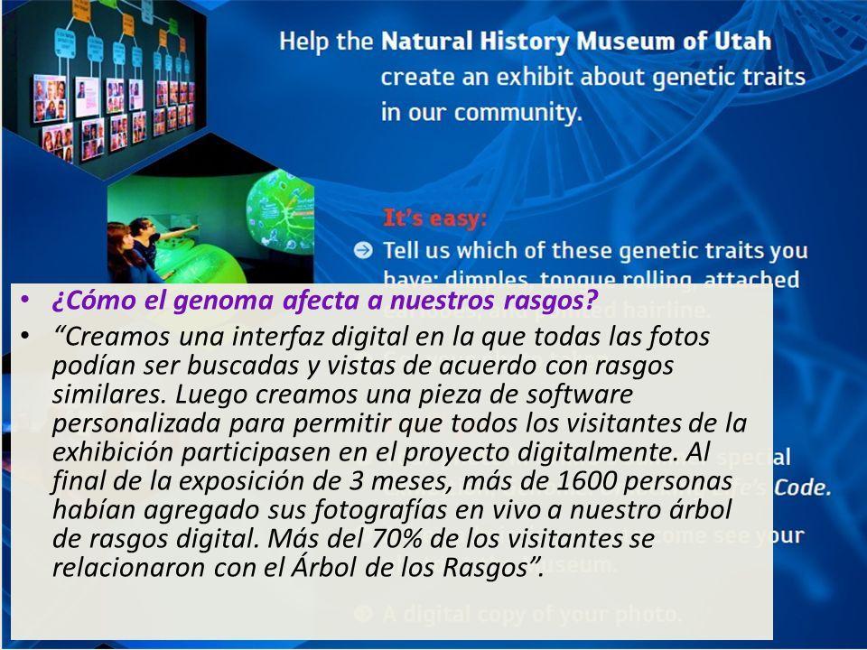 ¿Cómo el genoma afecta a nuestros rasgos.