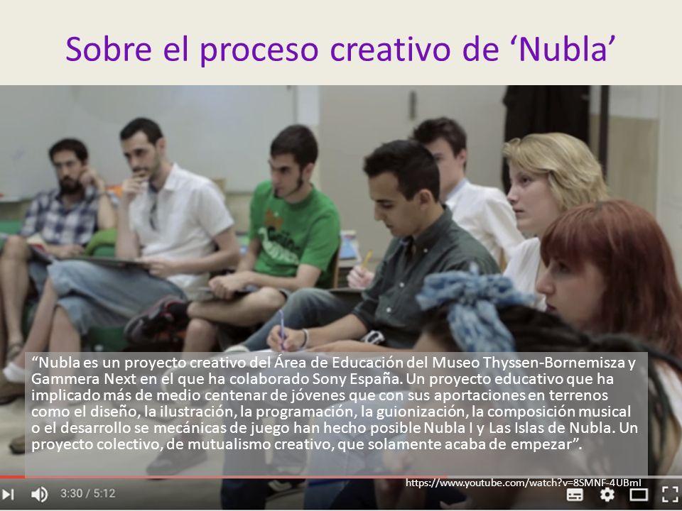Sobre el proceso creativo de 'Nubla' Nubla es un proyecto creativo del Área de Educación del Museo Thyssen-Bornemisza y Gammera Next en el que ha colaborado Sony España.