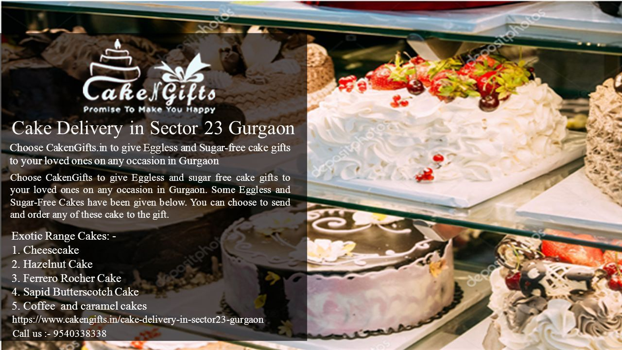 Visit CakenGifts for various types of cakes in Gurgaon on any