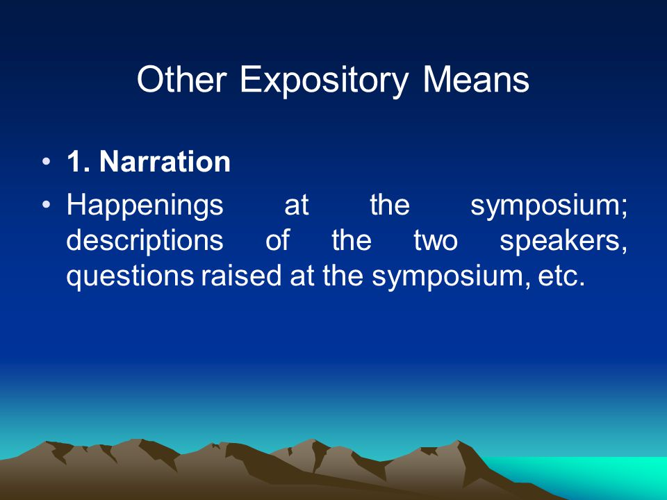 Other Expository Means 1.