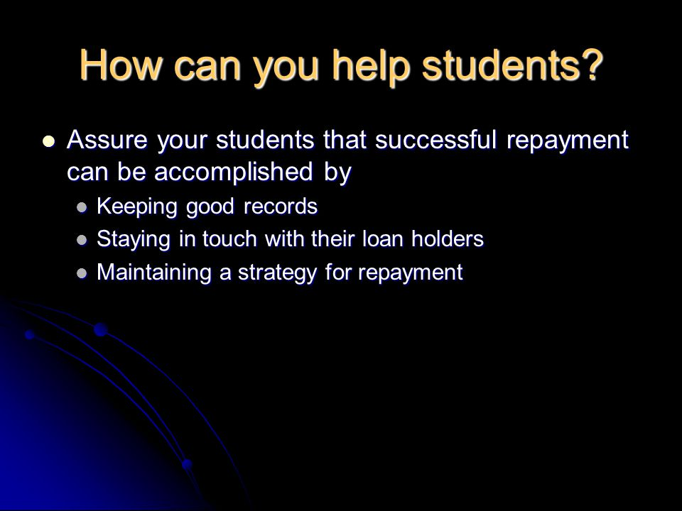 How can you help students.