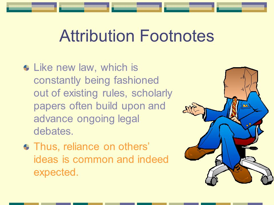 Authority Footnotes Legal scholarship is characterized by extensive documentation.