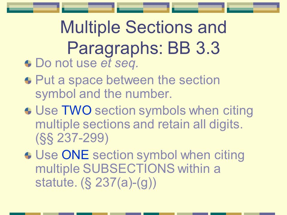 Page Numbers: BB 3.2 Use a pinpoint whenever possible.