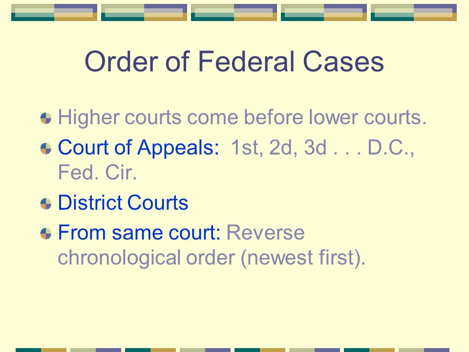 Overall Order Constitutions Statutes Treaties Cases Secondary Sources