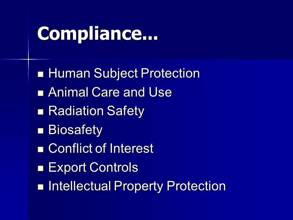 Compliance...