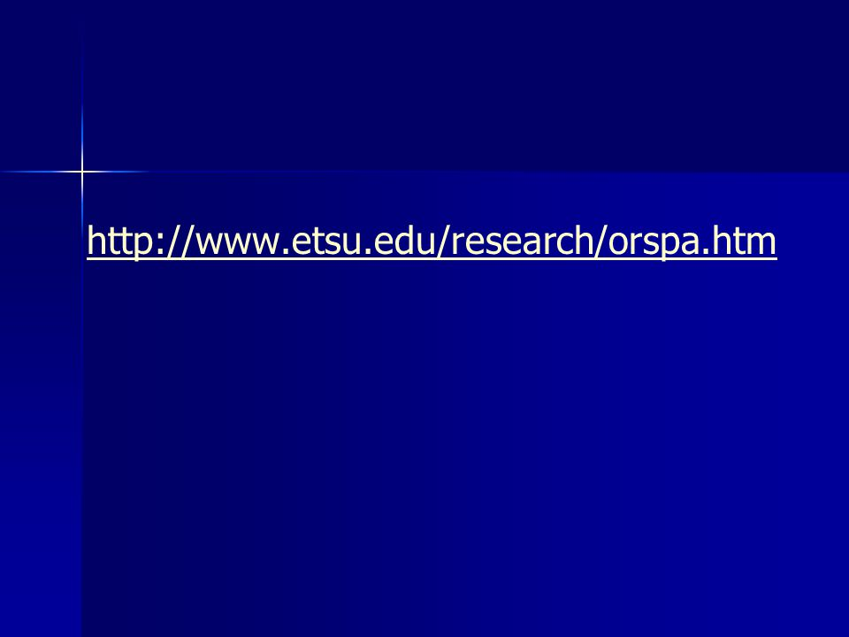 http://www.etsu.edu/research/orspa.htm