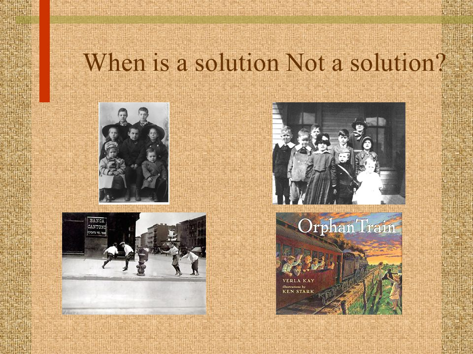 When is a solution Not a solution