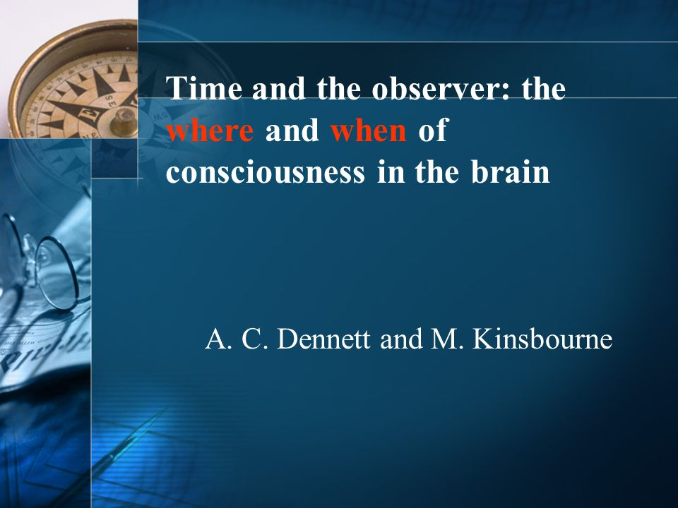 What matters is the temporal content of events.