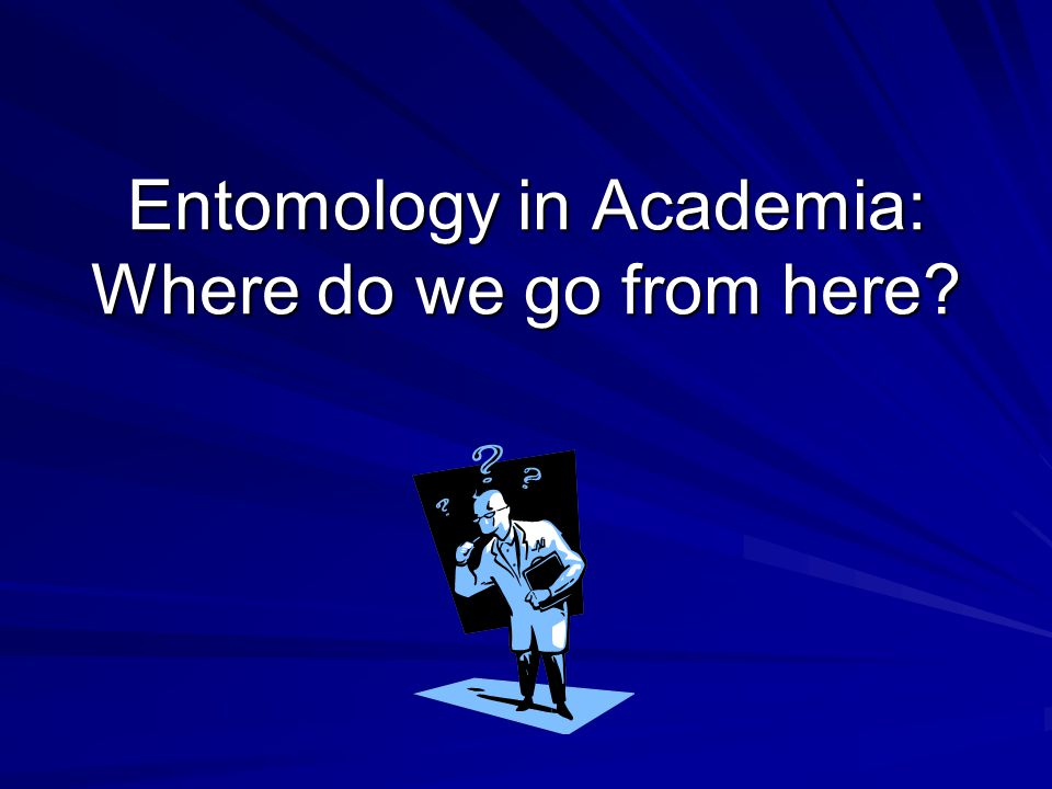 Entomology in Academia: Where do we go from here
