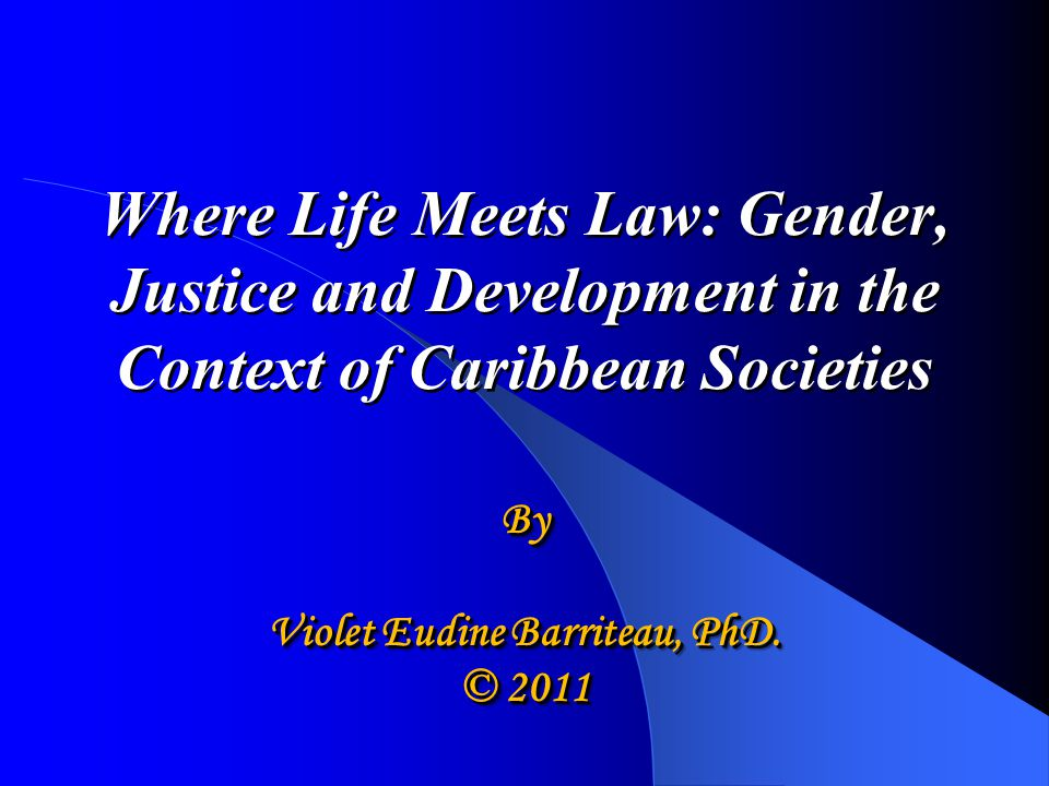 Guiding Objective To provide a greater appreciation of the relationship between gender, law and development, and how gender stereotypes influence the administration of justice, access to justice and the rule of law.