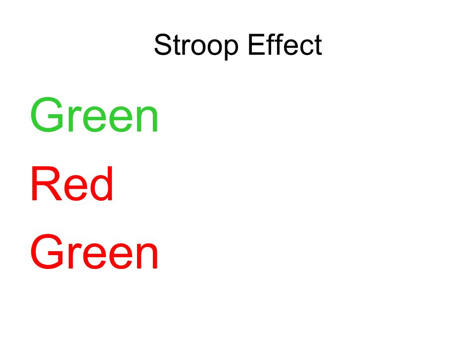 Green Red Green
