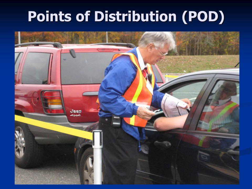 September 21, 2009 Points of Distribution (POD)
