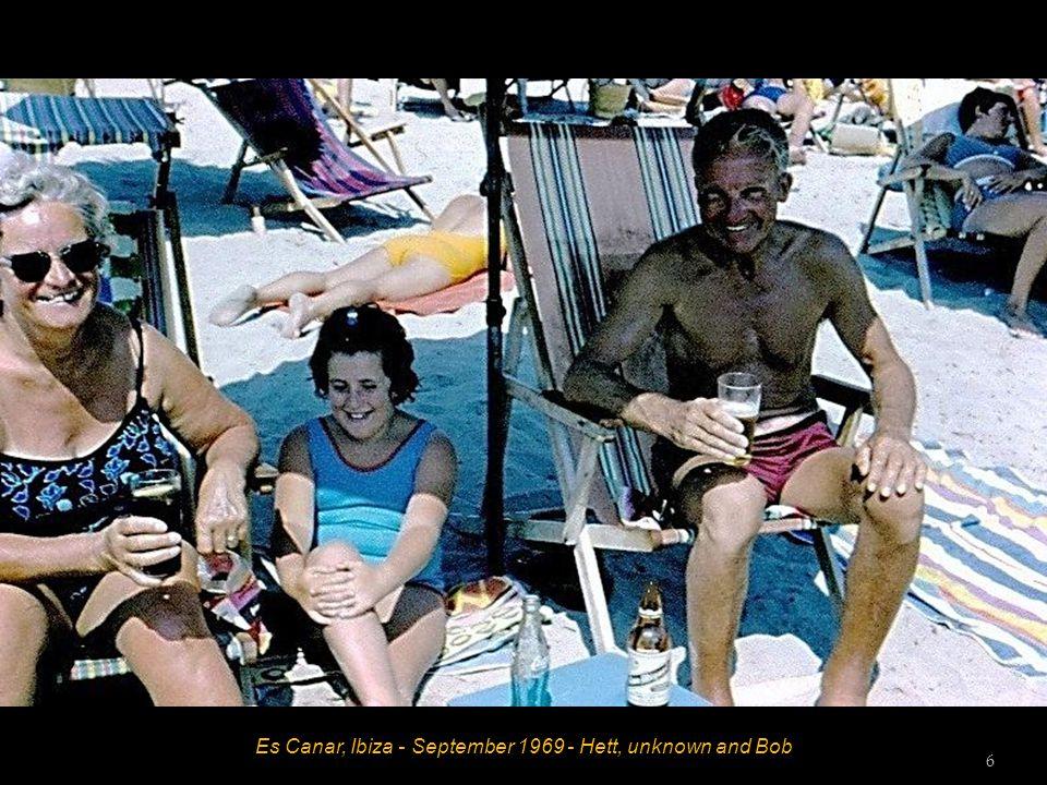 Es Canar, Ibiza - September 1969 - Hett, unknown and Bob 5