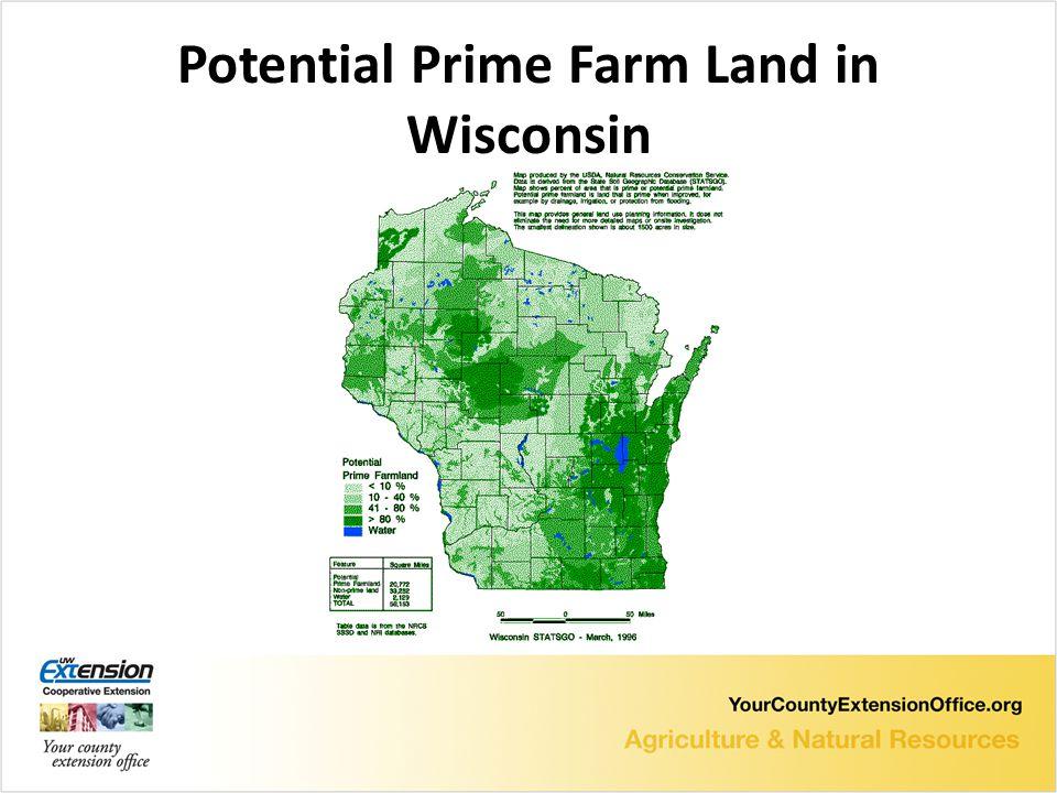 Potential Prime Farm Land in Wisconsin