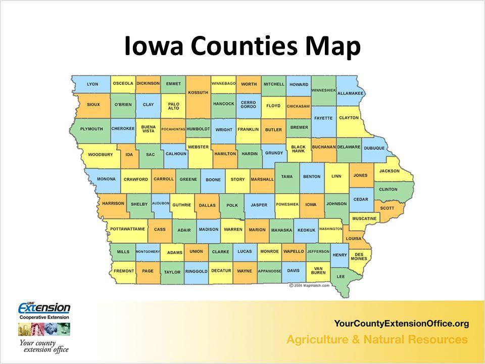 Iowa Counties Map