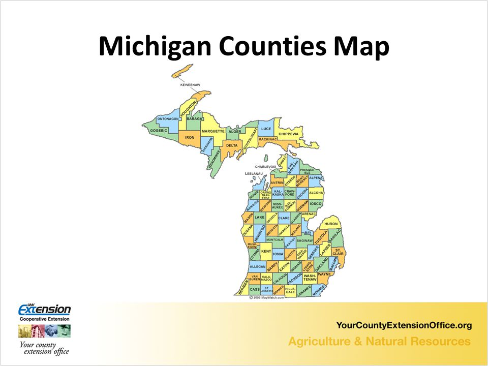 Michigan Counties Map
