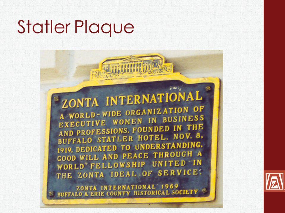 Statler Plaque