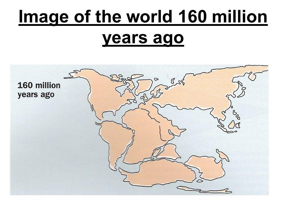 Image of the world 160 million years ago