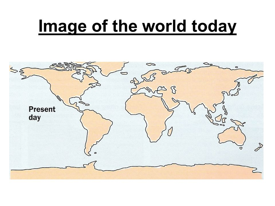 Image of the world today