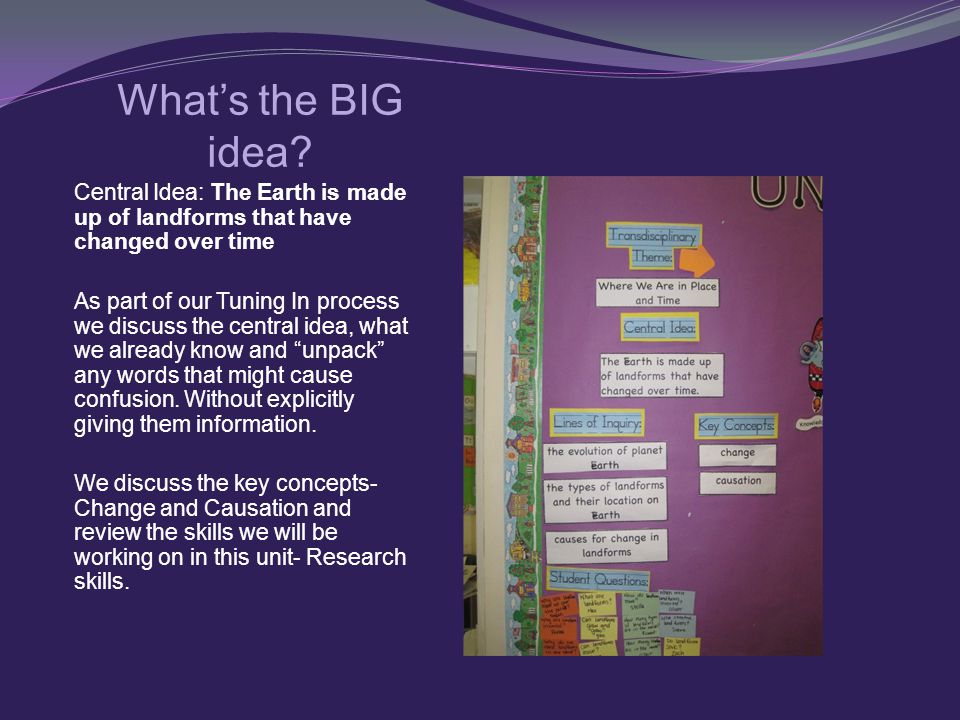 What's the BIG idea.