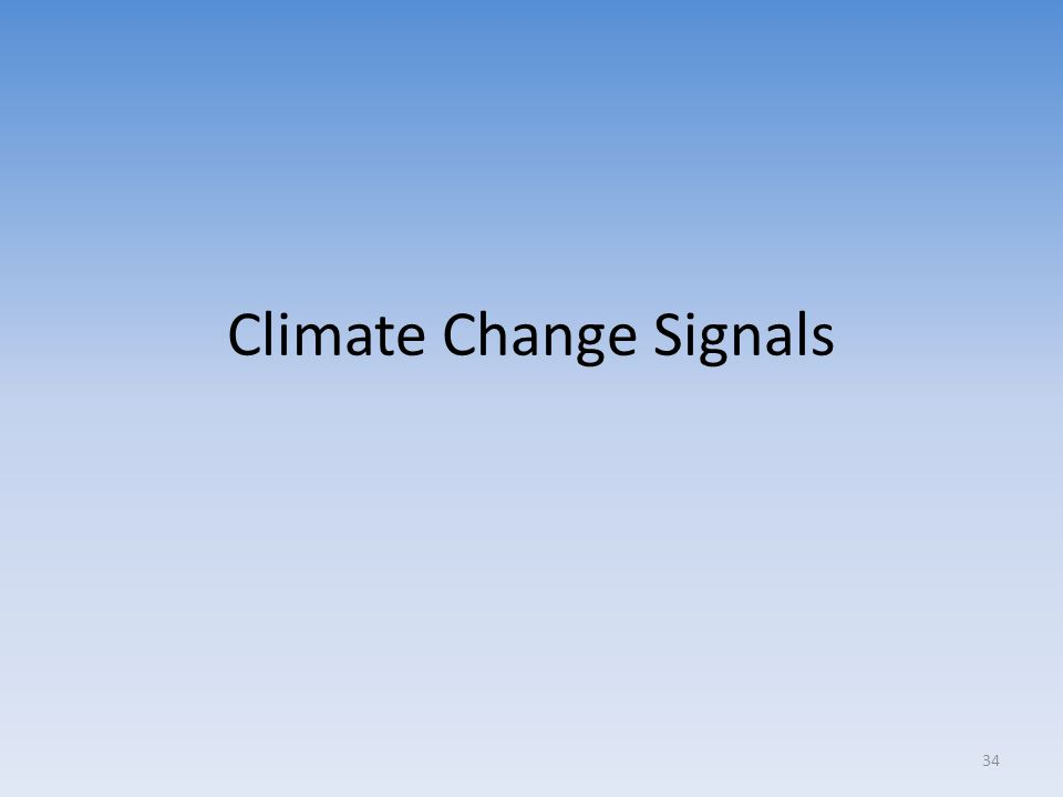 Climate Change Signals 34
