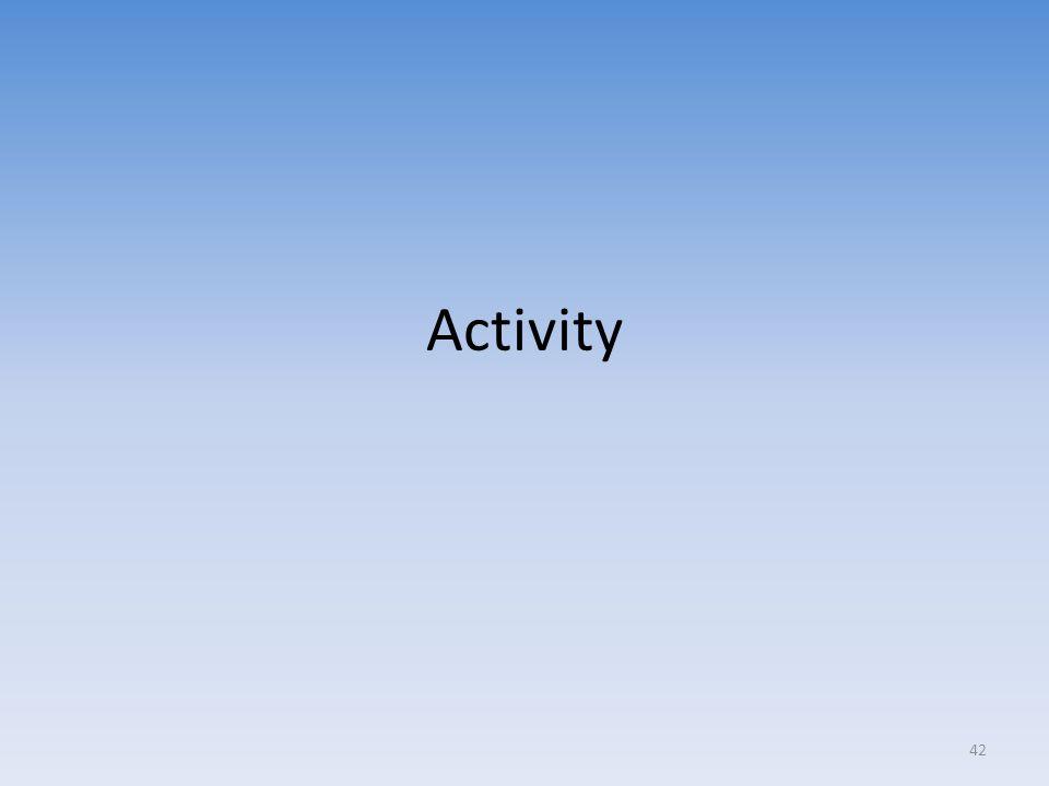 Activity 42
