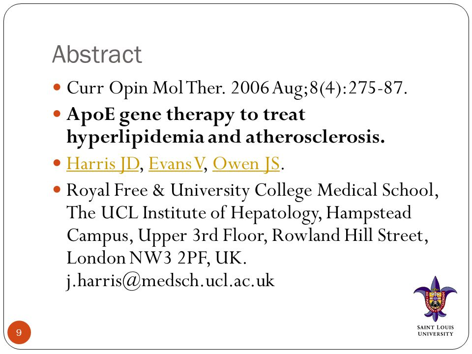 Abstract Curr Opin Mol Ther Aug;8(4):
