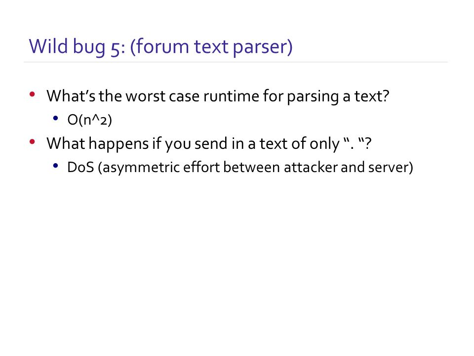 What's the worst case runtime for parsing a text.