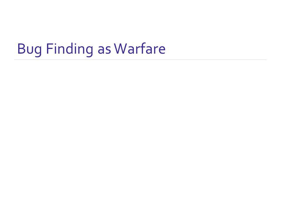 Bug Finding as Warfare