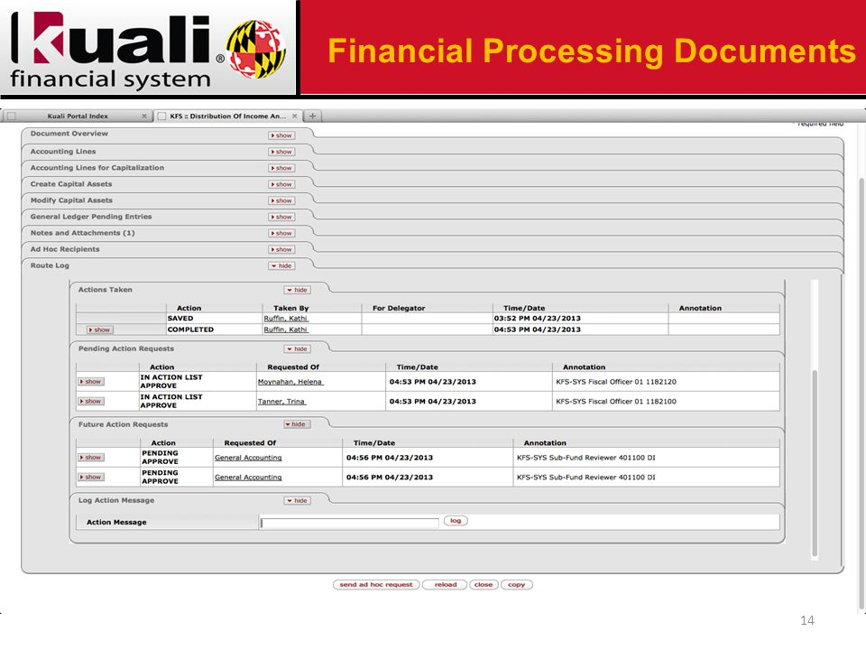 14 Financial Processing Documents
