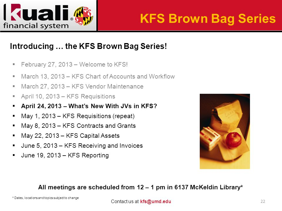  February 27, 2013 – Welcome to KFS.
