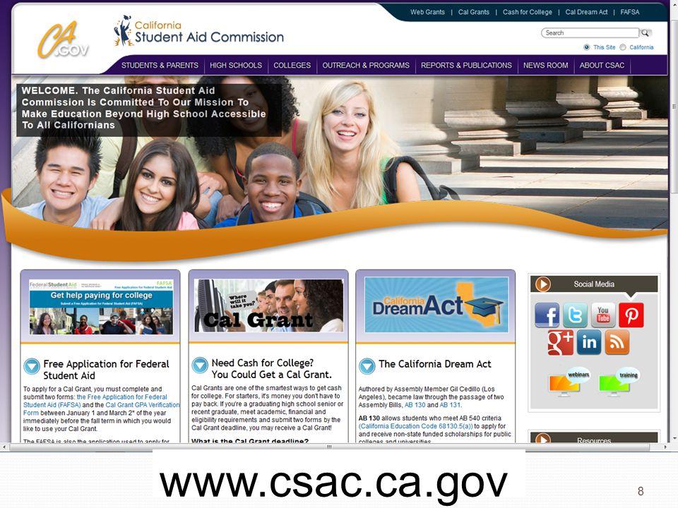 8 www.csac.ca.gov