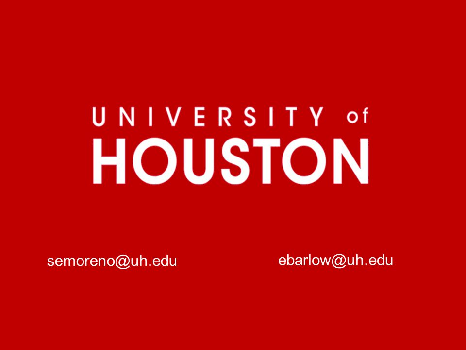 semoreno@uh.edu ebarlow@uh.edu