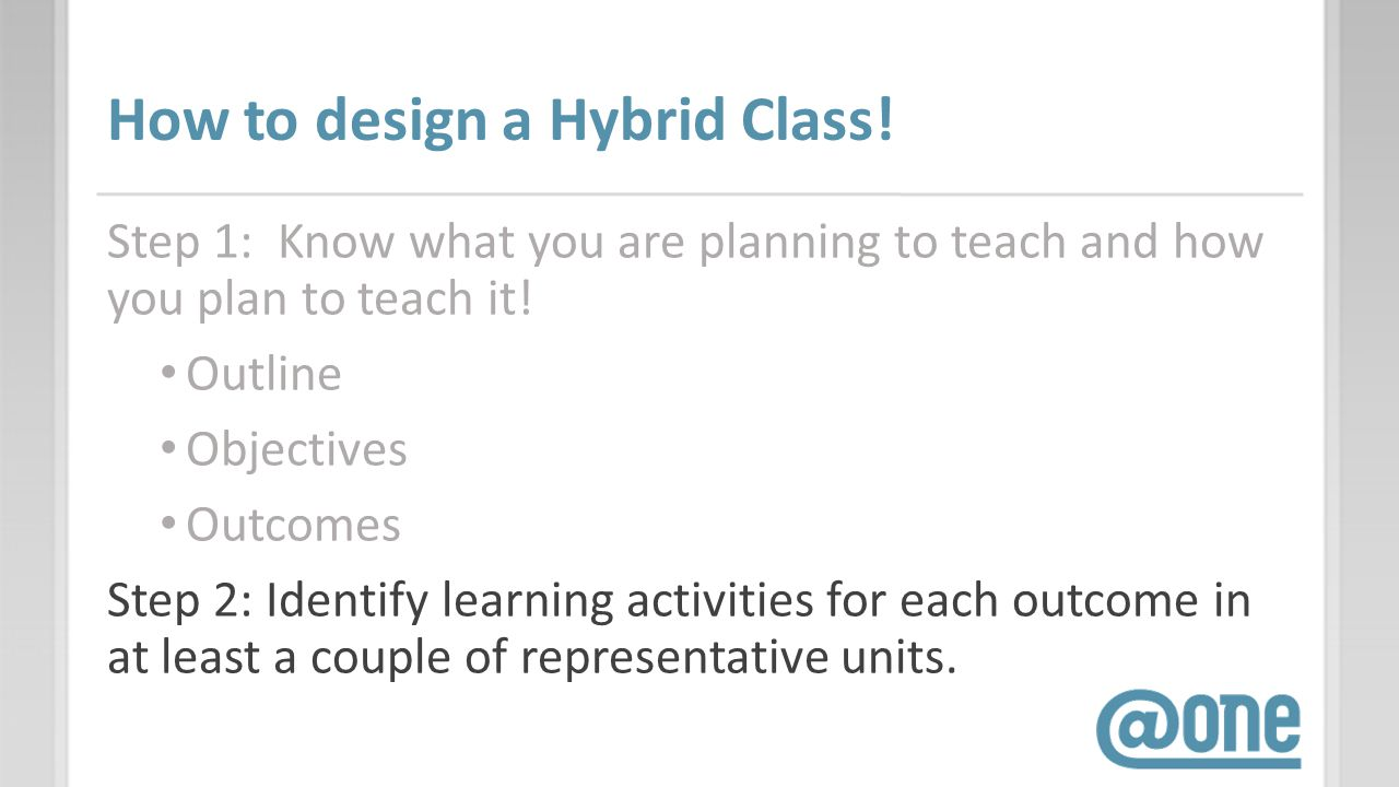 How to design a Hybrid Class.