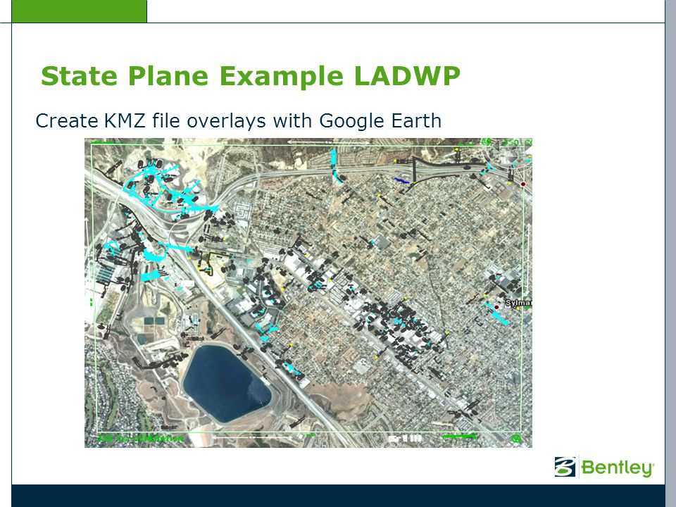 State Plane Example LADWP Create KMZ file overlays with Google Earth