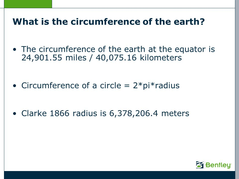 What is the circumference of the earth? The circumference of the earth at the equator is 24,901.55 miles / 40,075.16 kilometers Circumference of a cir
