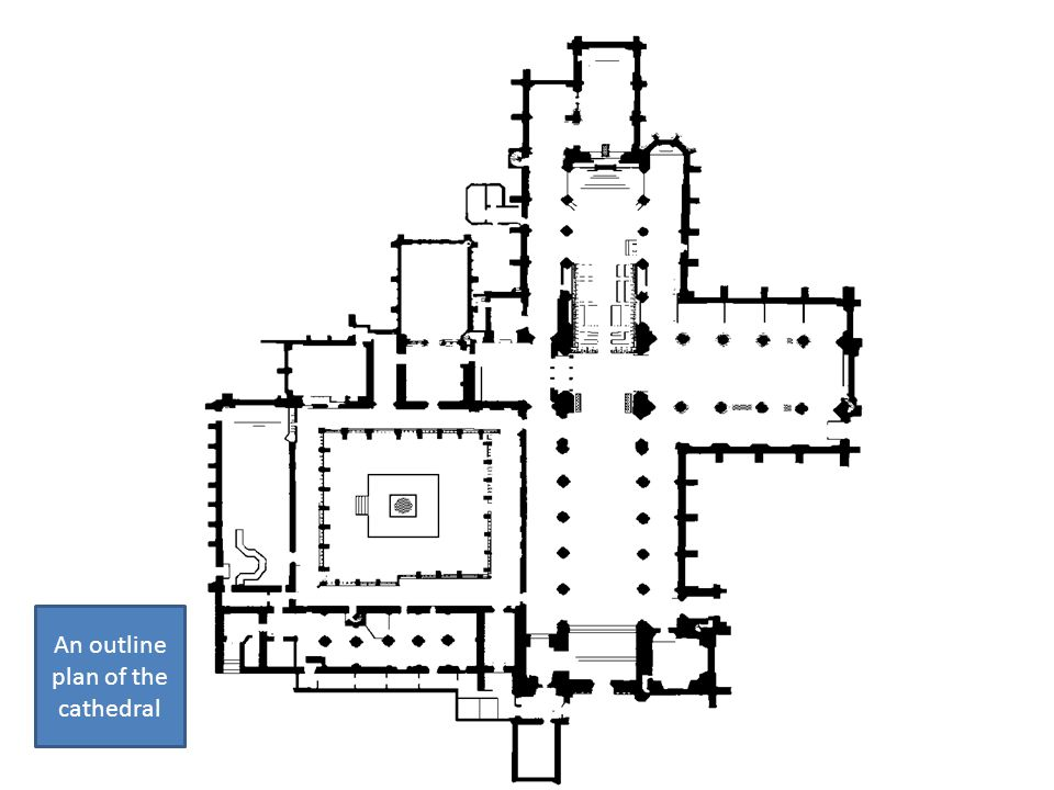 An outline plan of the cathedral
