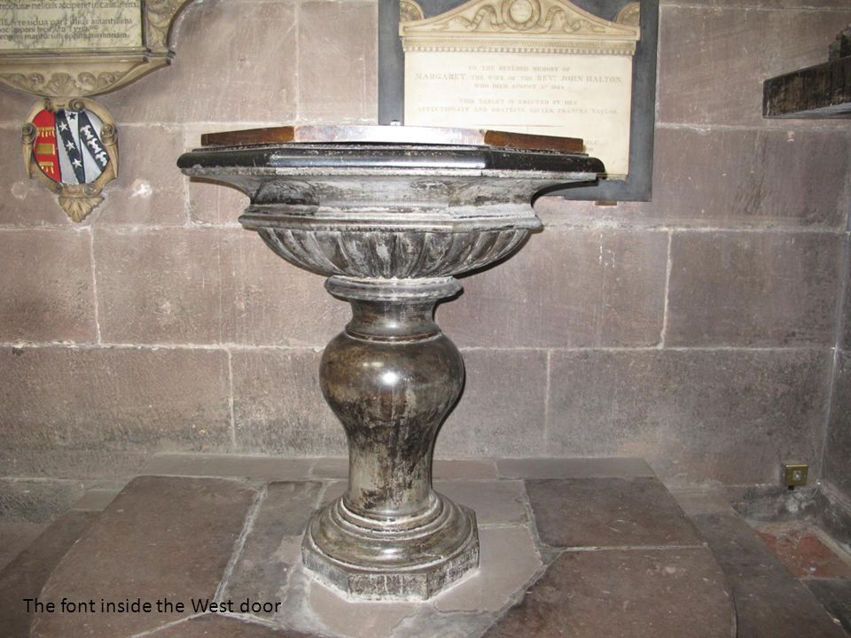The font inside the West door