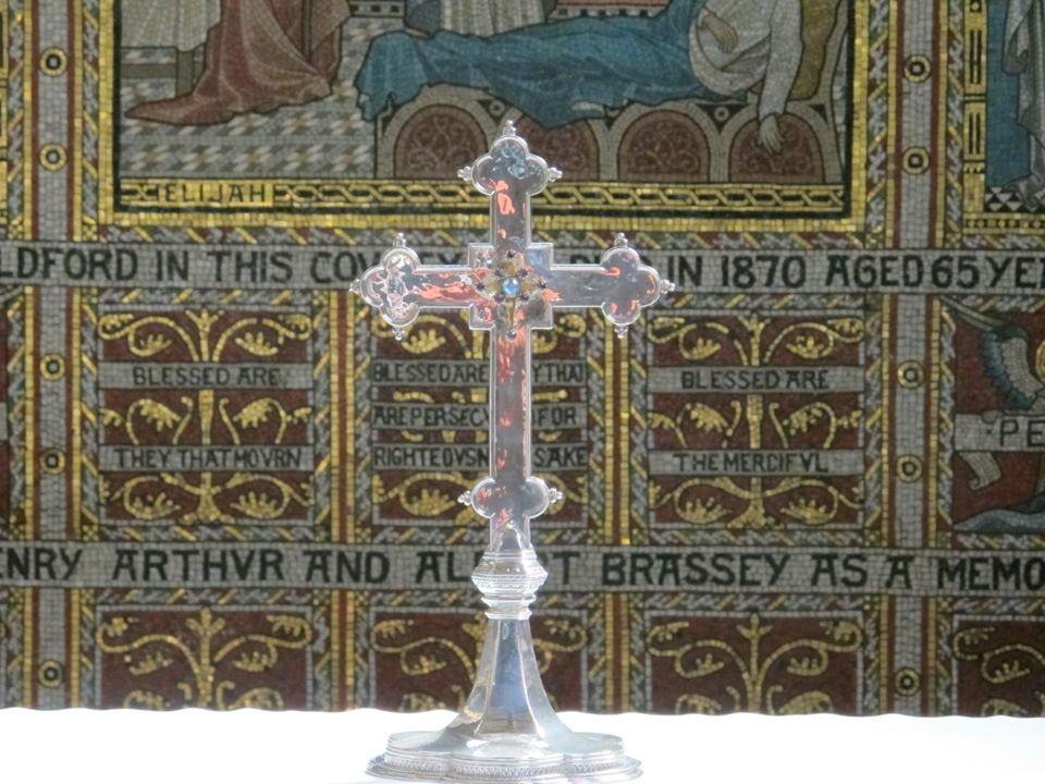 Cross on the high altar