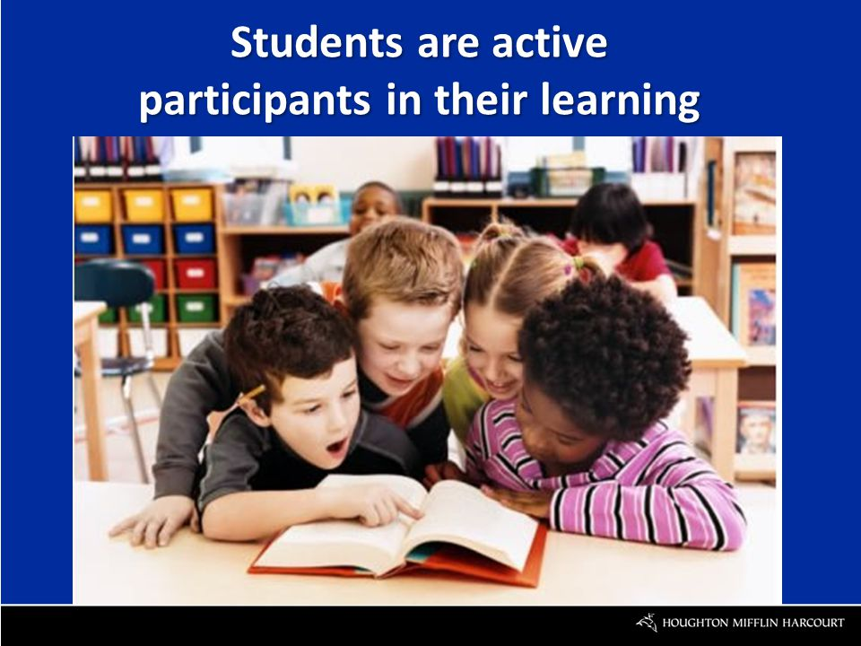 Students are active participants in their learning