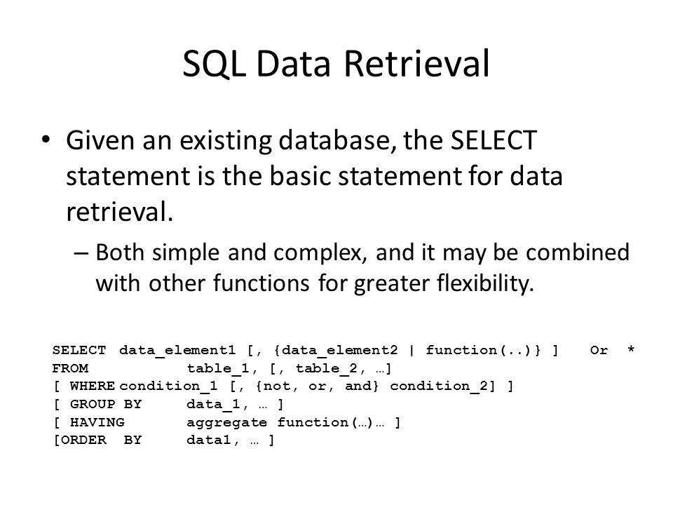 INSERT command Allows you to insert single or multiple rows of data into a table INSERT INTO table [(column-list)] [VALUES (value-list) | sql-query]
