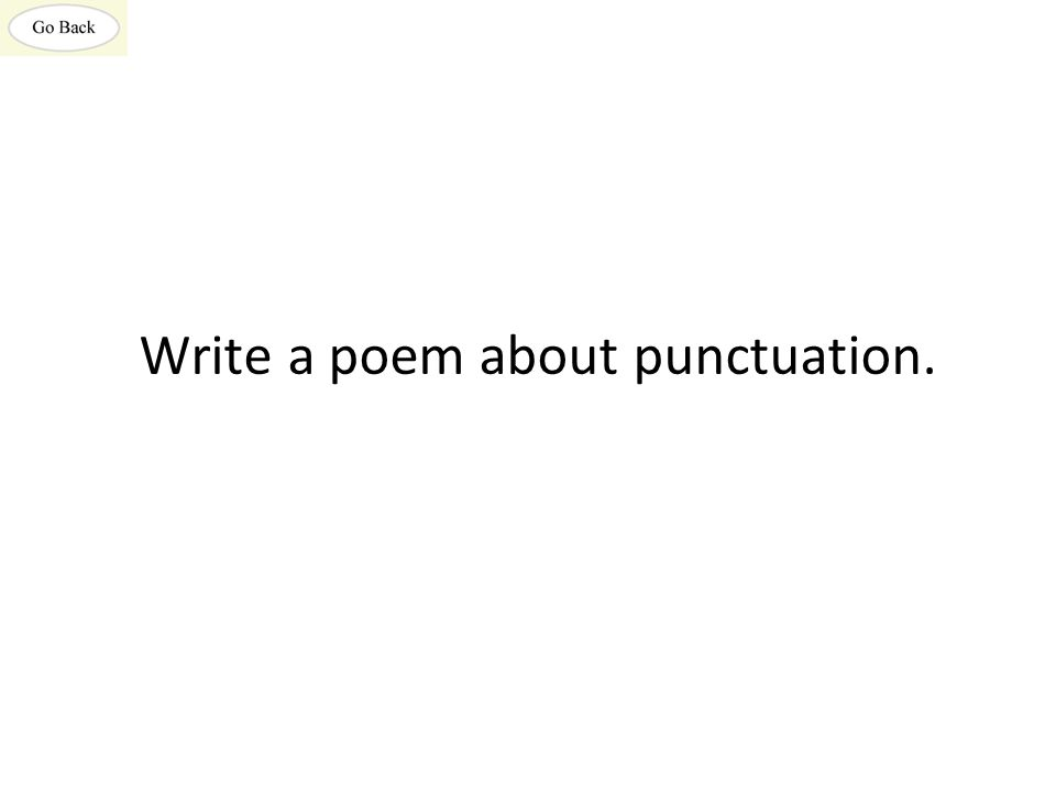 Write a poem about punctuation.